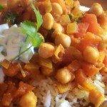 Chana masala – ciecierzyca po hindusku z raitą