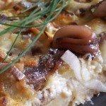 Tarta z anchois i młodymi ziemniakami