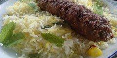 Perski kebab kubide z pikantnym ryzem