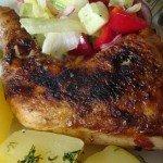 Pieczone udka z kurczaka z oregano, czosnkiem i płatkami chili