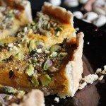 Słodka tarta dyniowa z ricotta i pistacjami
