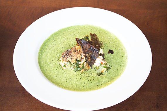 zupa szpinakowa z mascarpone