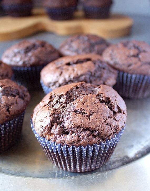 muffiny mocno czekoladowe