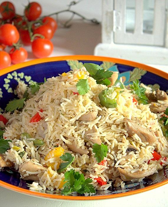 fried rice z kurczakiem