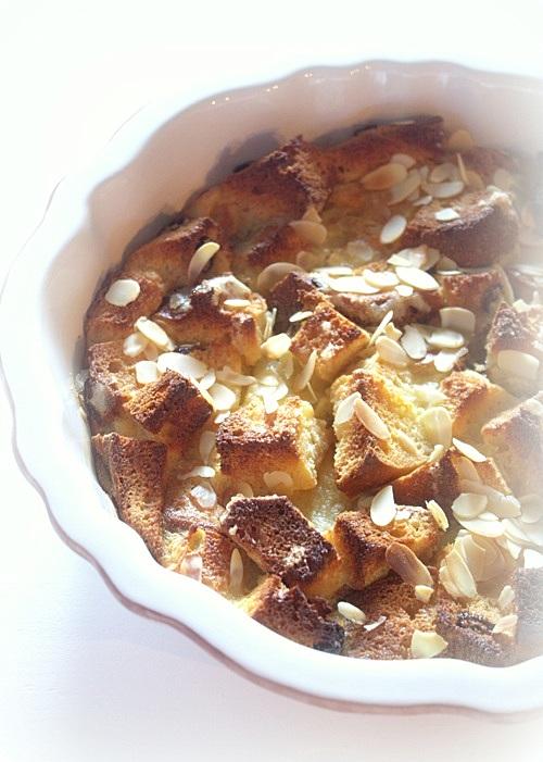slodki pudding z resztek babki drozdzowej