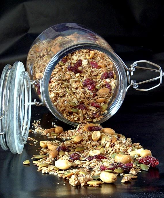 granola z cynamonem