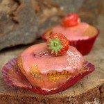 Muffinki z truskawkami i polentą