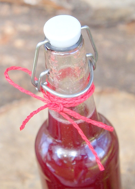 przepis na domowy sok malinowy