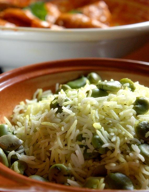 ryż basmati po persku z bobem