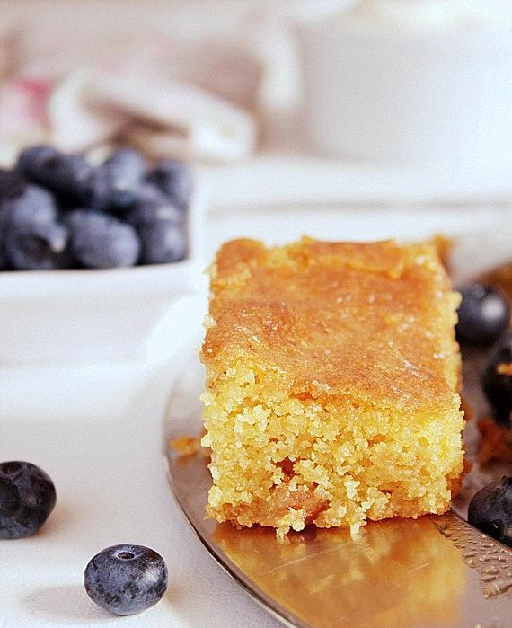 przepis ciasto z polentą