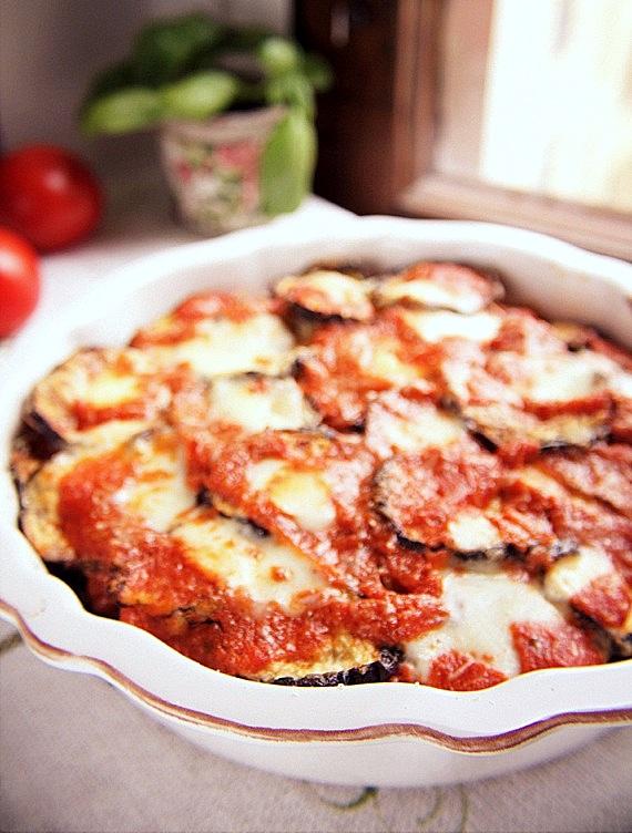 włoska zapiekanka z bakłażana i mozzarella