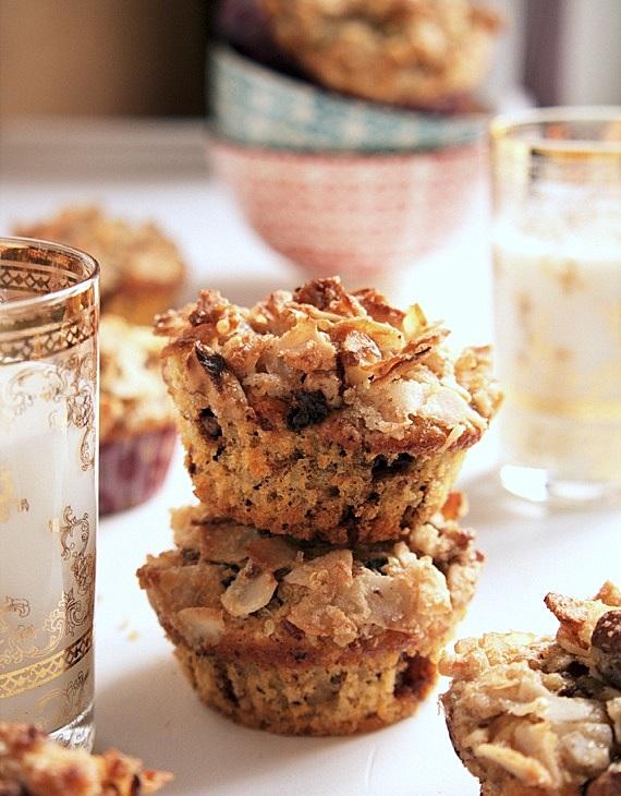 muffinki śniadaniowe z batatami,czekoladą i orzechami
