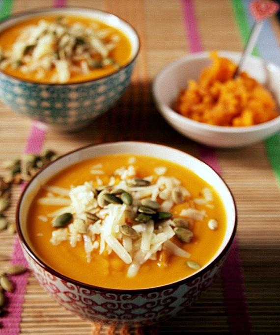 zupa dyniowa z cheddarem