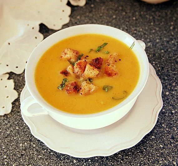 zupa krem z cukinii i batatów