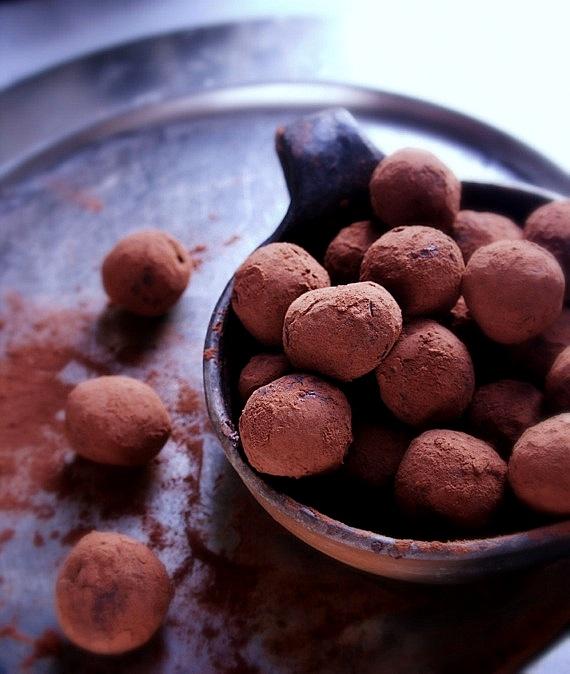 trufle czekoladowe z żurawiną