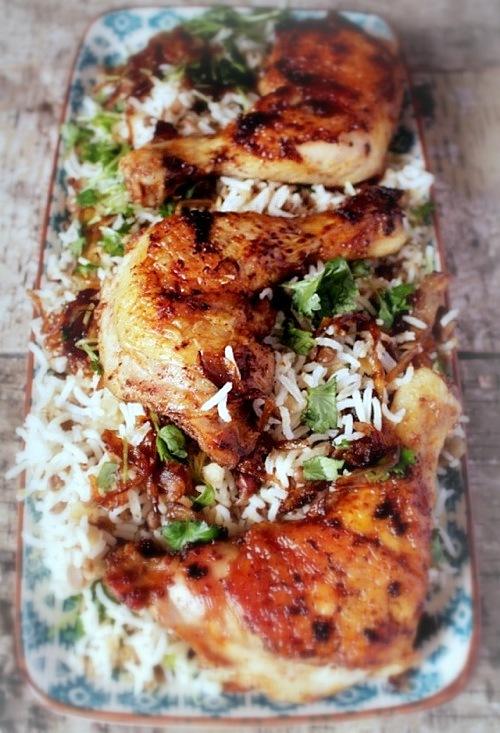 grillowane udka z kurczaka z pilaf