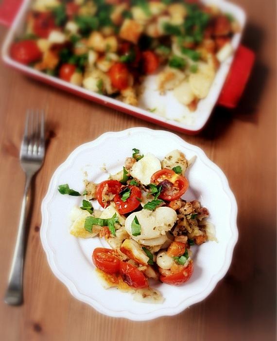 zapiekanka z fasoli i pomidorów