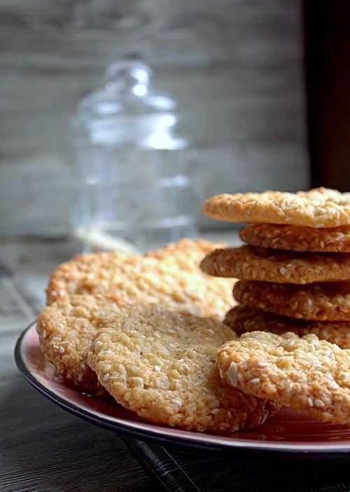 ciasteczka sezamowe z kokosem