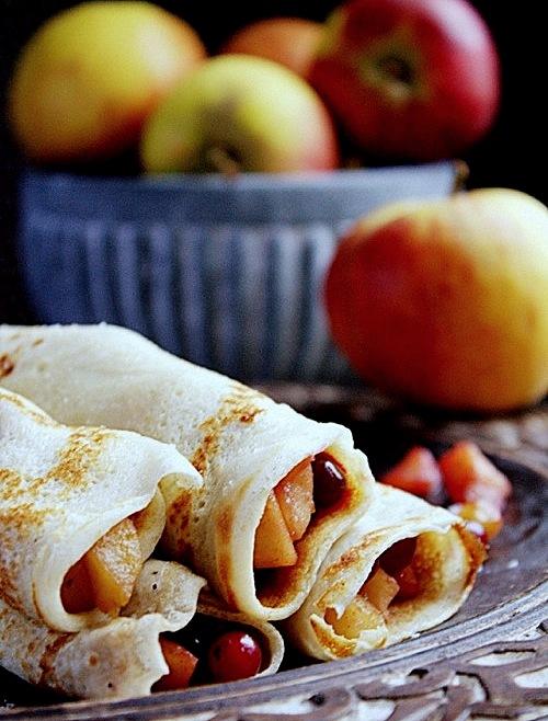 przepis na crepes z jabłkami