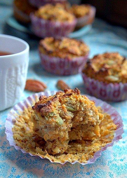 dietetyczne muffinki z marchewką