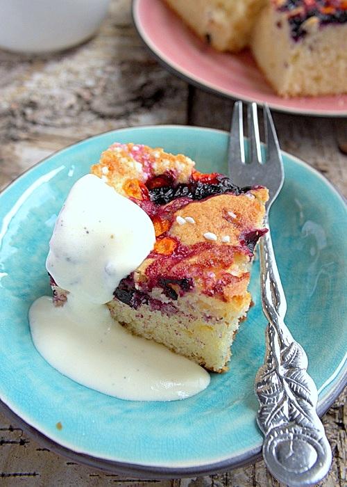 przepis na ciasto z jagodami
