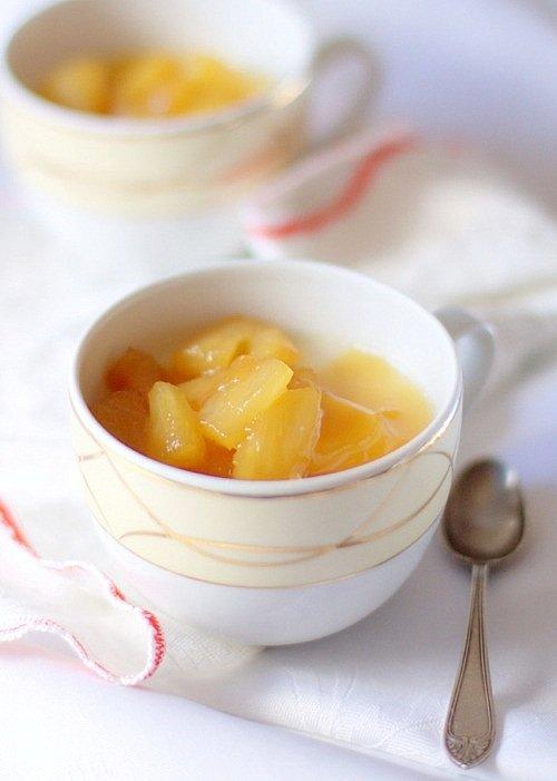 kokosowa panacotta z ananasem przepis