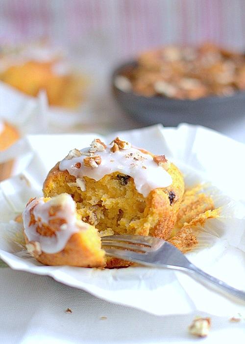 muffiny dyniowe ze sliwkami