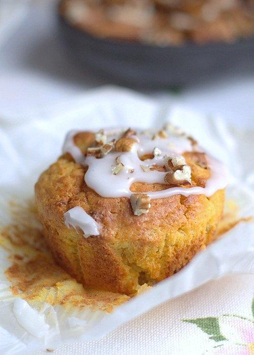 przepis na muffiny dyniowe ze śliwkami
