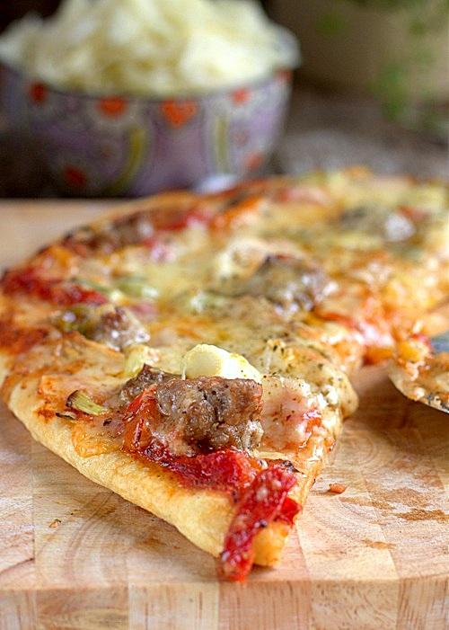 przepis na pizza kebab