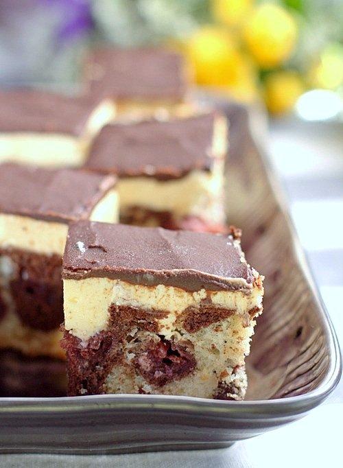 przepis na ciasto ucierane z wiśniami