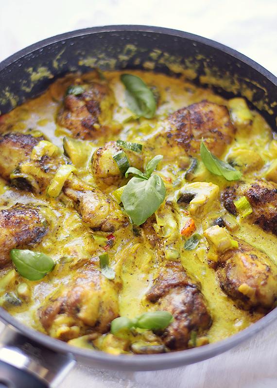 pałki kurczaka w sosie curry