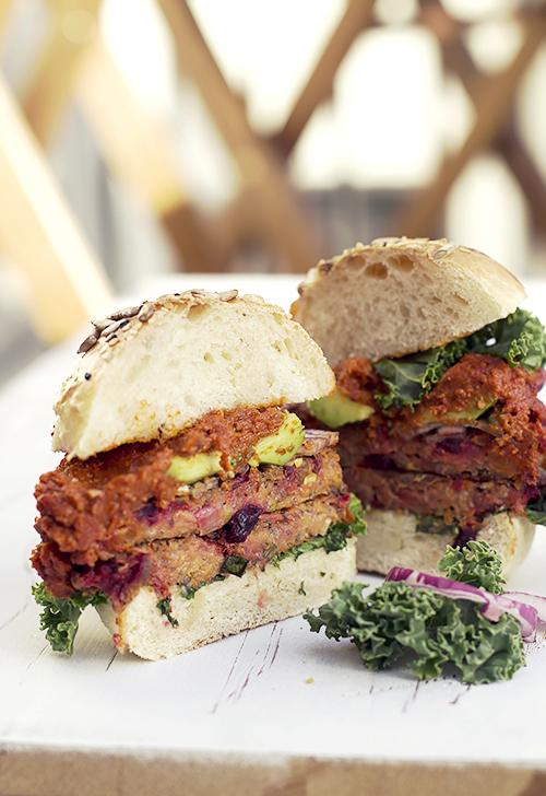 warzywny burger z batatów