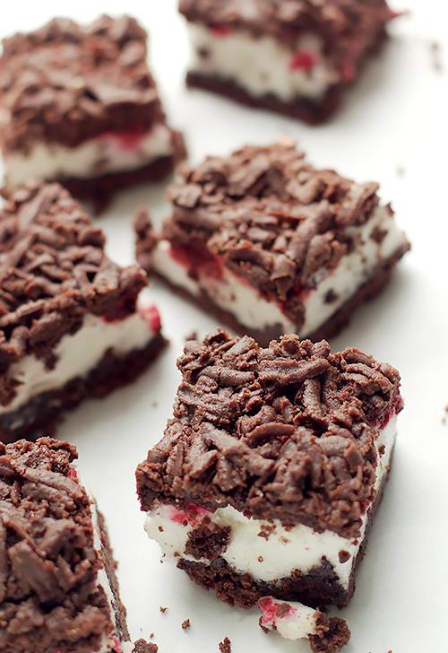 ciasto kruche czekoladowe z malinami