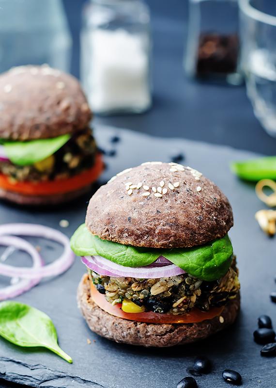 burgery z fasoli warzywne