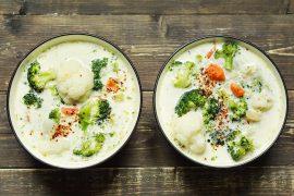 zupa z kalafiora i brokułu