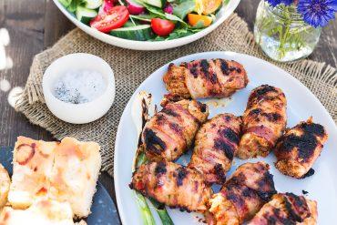 grillowane roladki z kurczaka z romesco