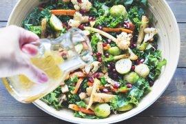 prosta sałatka z pieczonymi warzywami