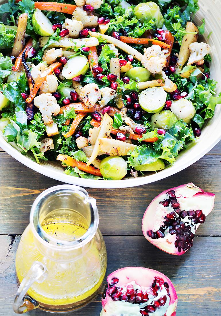 salatka z pieczonymi warzywami