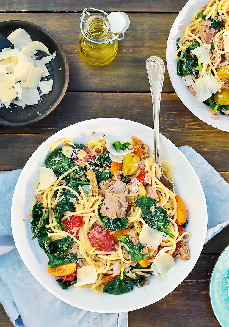 spaghetti florentine przepis