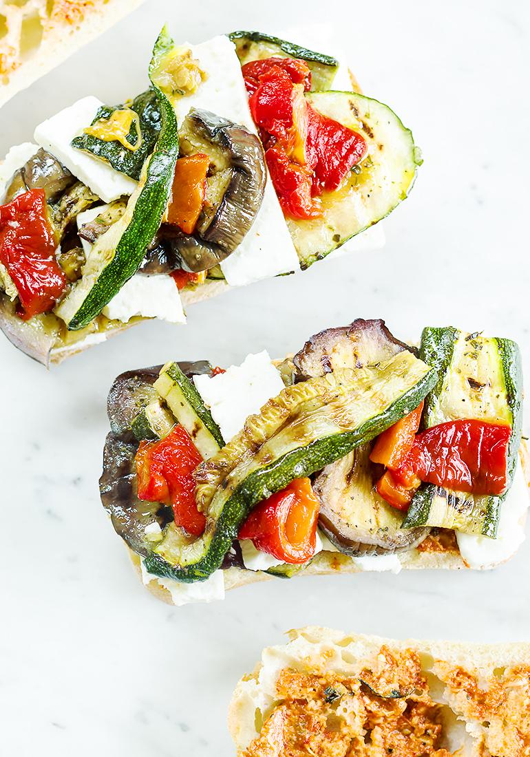 kanapki marynowane warzywa