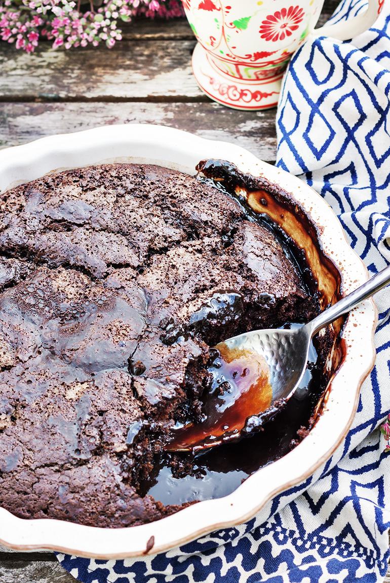 ciasto czekoladowe na gorąco