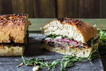kanapka włoska z prosciutto