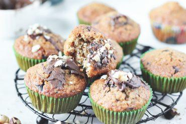 muffinki owsiane babeczki czekolada przepis