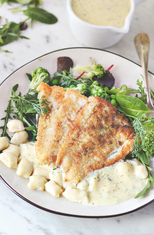 ryba na obiad dorsz gnocchi sos cytrynowy