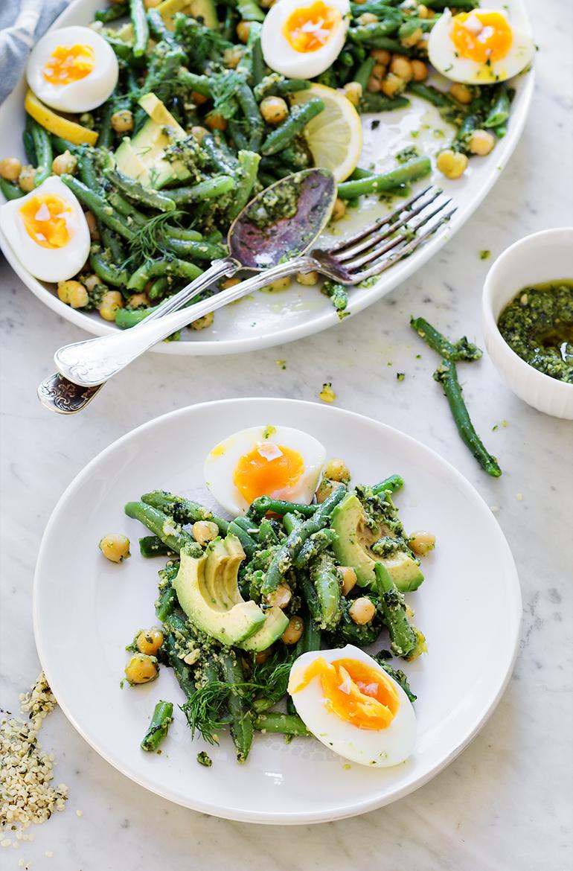 przepisy z awokado fasolka sałatka pesto jajka przepis codojedzenia