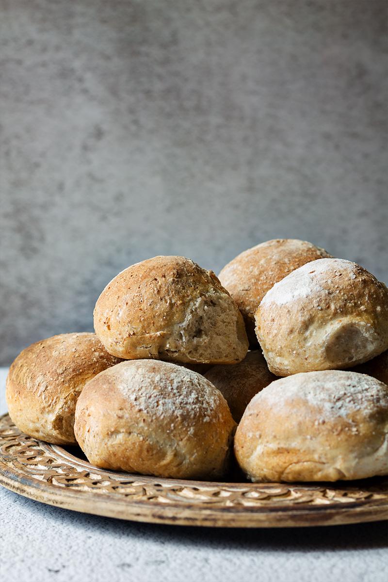 bułki pszenno razowe na drożdżach pieczywoblog kulinarny codojedzenia
