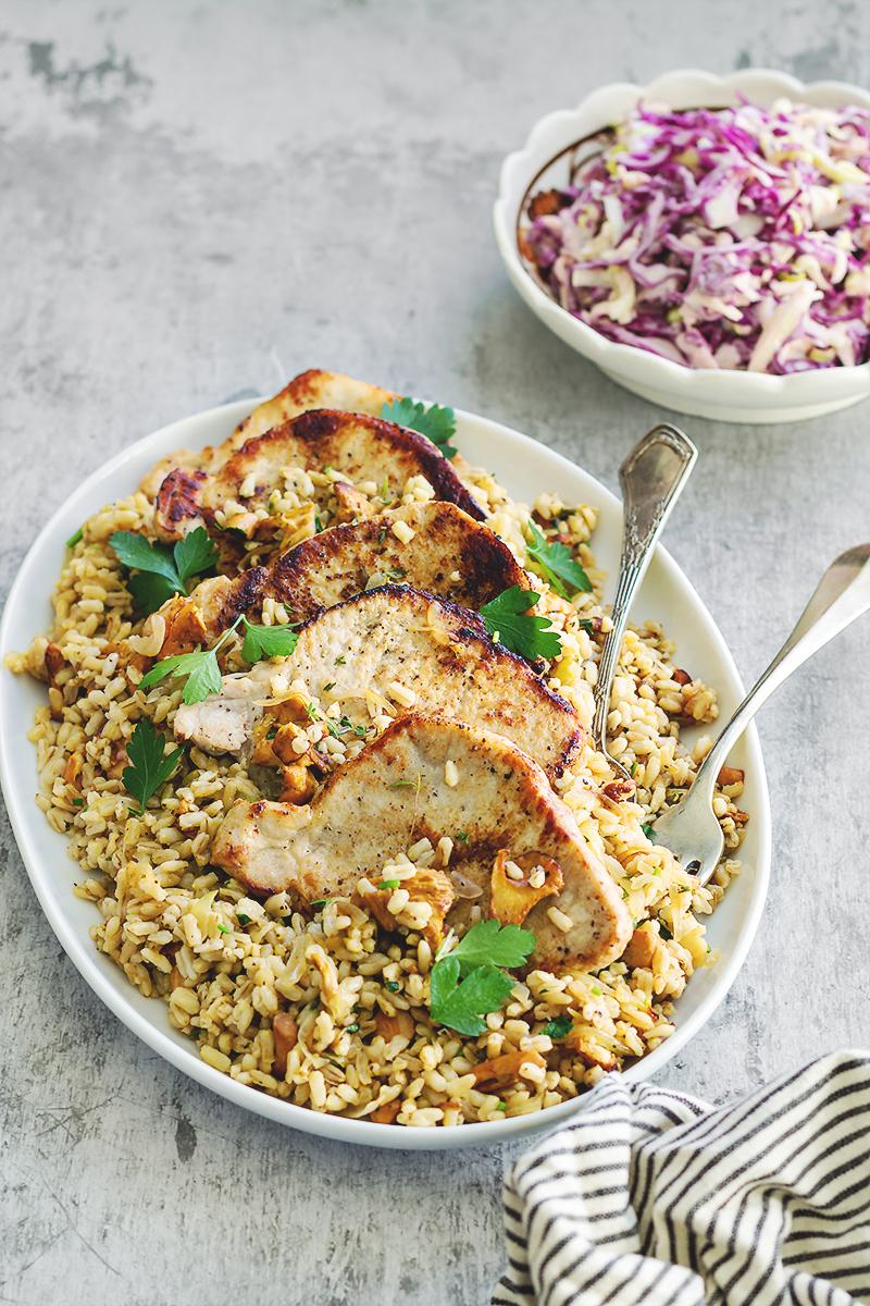 kurki ryż z owsa schabowy obiad codojedzenia